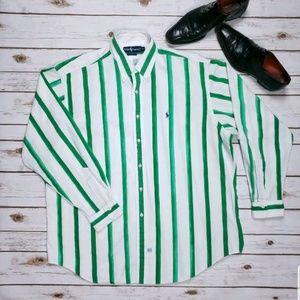 Ralph Lauren Dress Shirt Mens XL Painted Green